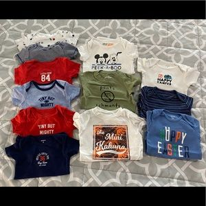 Other - 12 Short-Sleeve Bodysuits - Size 9 Months